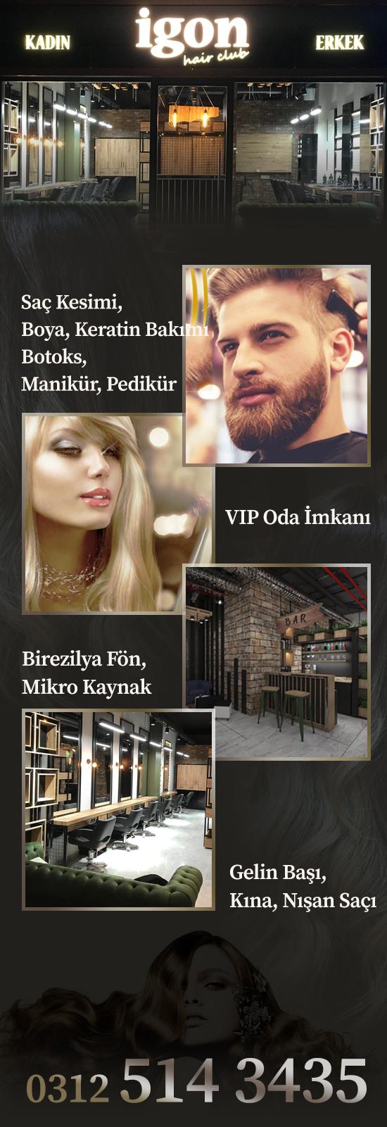 İGON HAİR CLUP, Kadın & Erkek Kuaför Salonu